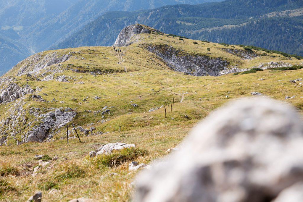 Wir streifen entlang des Plateaus auf der Pirsch nach morgendlichen Motiven.