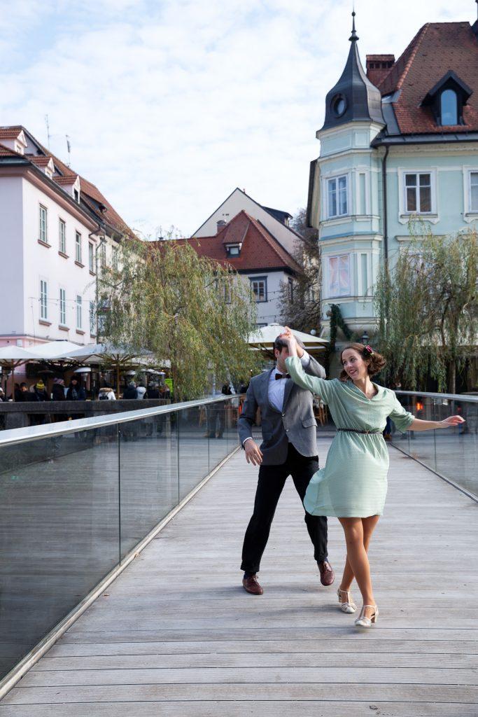 Auf Pirsch nach schwungvollen Straßenmotiven auf unserer Fotoreise Ljubljana.