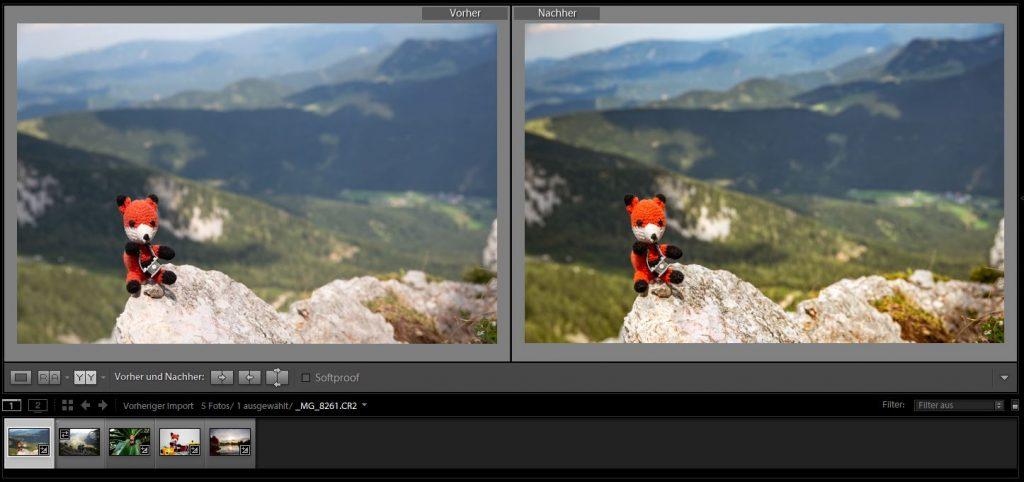 Übe bei unserem Tageskurs Postproduktion Modul 2: Fotobearbeitung Basis die Fotobearbeitung mit deinen eigenen Fotos.