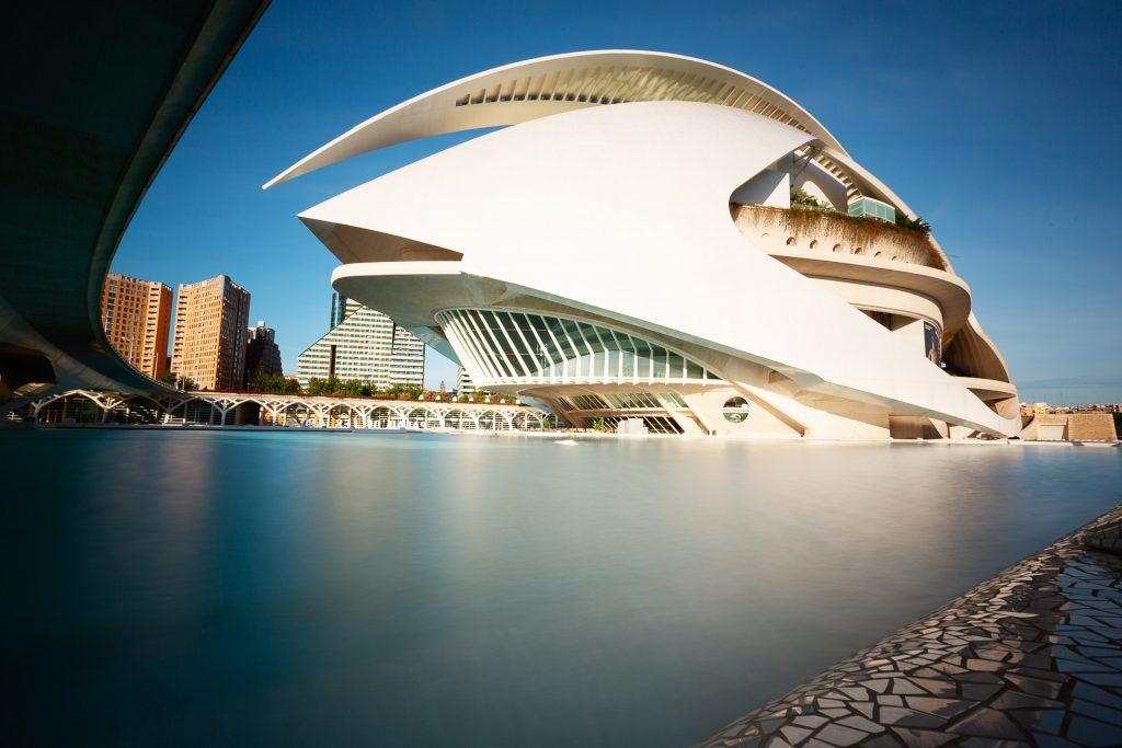 Mit Graufilter & Stativ ausgerüstet auf die Pirsch gehen und auch tagsüber nicht genug bekommen von der Architektur der City of Arts and Sciences in Valencia