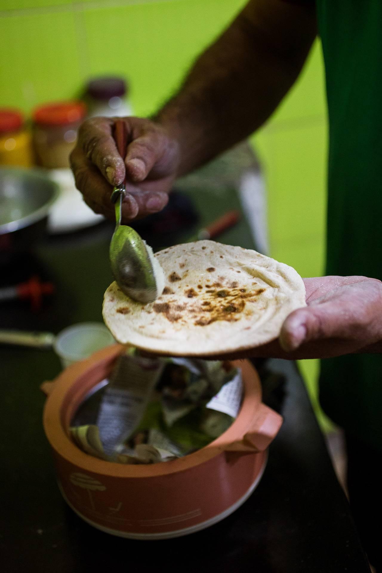 Der indische Brot-Klassiker Chapati.