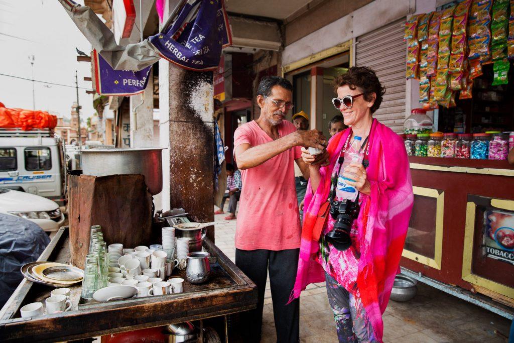 In Indien ist immer Zeit für eine stärkende Chai Pause.