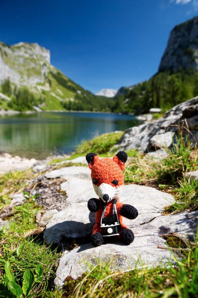 DIE FOTOFÜCHSE Foto Locations Salzkammergut. Mittags- und Bade-Pause am vorderen Lahngangsee. Ob mit Badehose oder so wie Fuchs erschaffen wurde ;-)