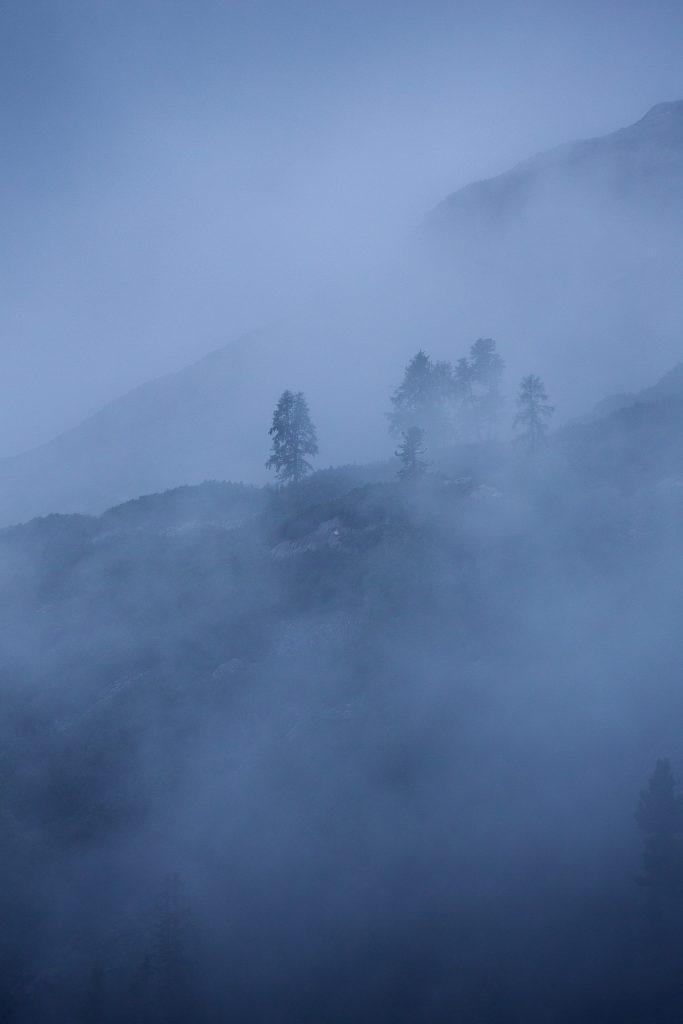 Morgenfüchse können noch vor den ersten Sonnenstrahlen die mystische Seite des Toten Gebirges bewundern.