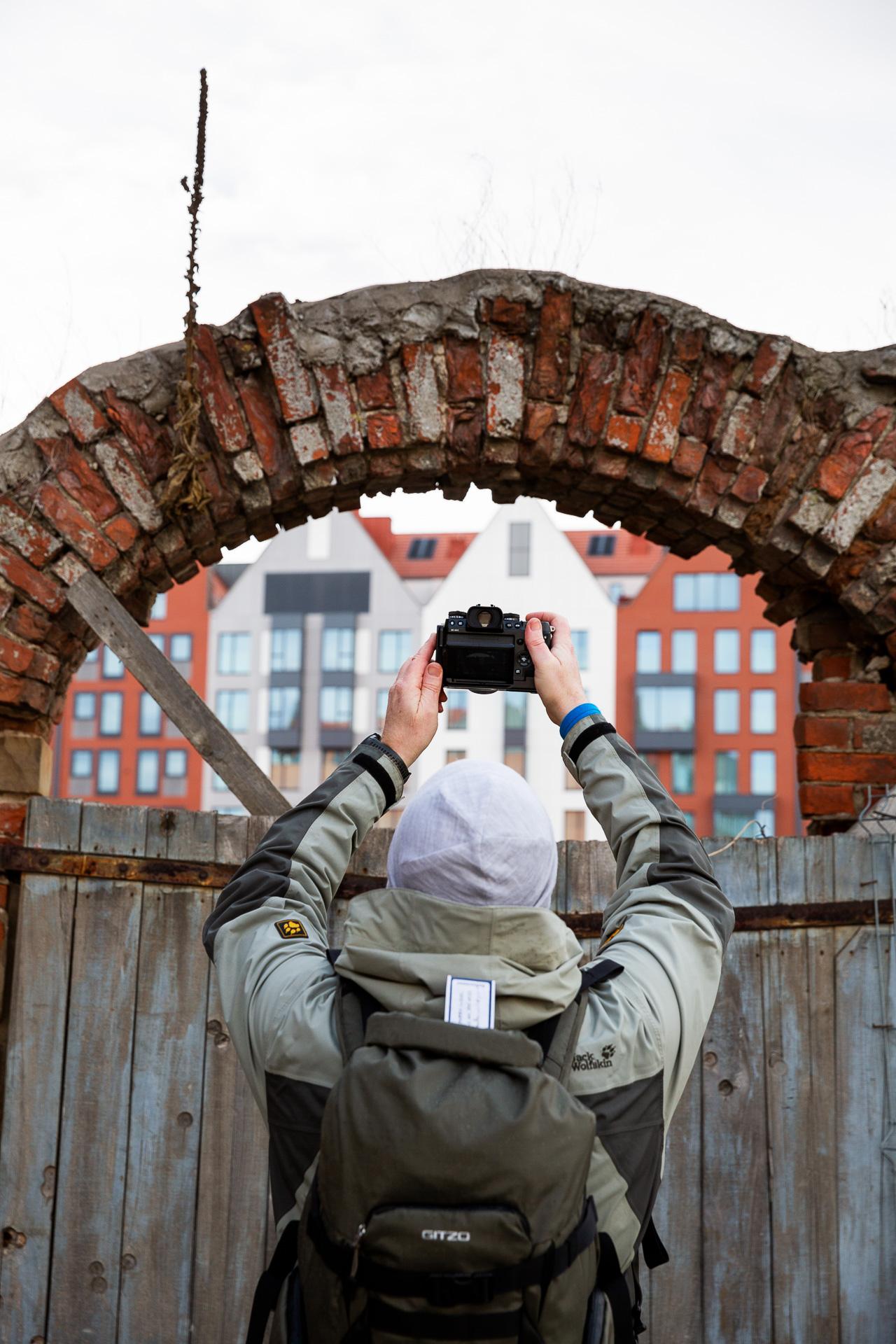 Kreative Blickwinkel im Hafen bei unserer Fotoreise Danzig werden immer in der Gruppe geteilt.